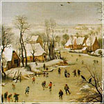 Breugel: Winter Landscape with Skaters and Bird Trap
